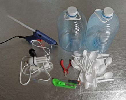 Υλικά για κατασκευή φωτιστικού
