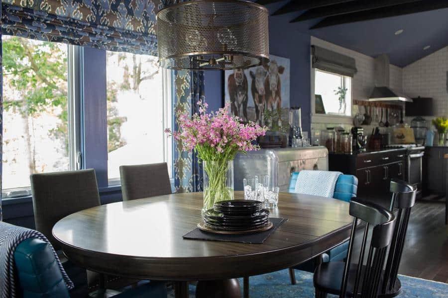 hgtv blue living room decoration