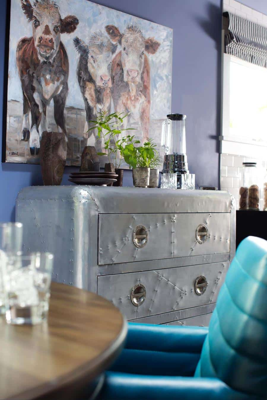 hgtv blue living room decoration