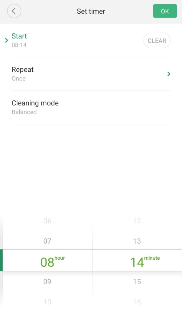 Xiaomi Mi Robot Scheduled Cleaning