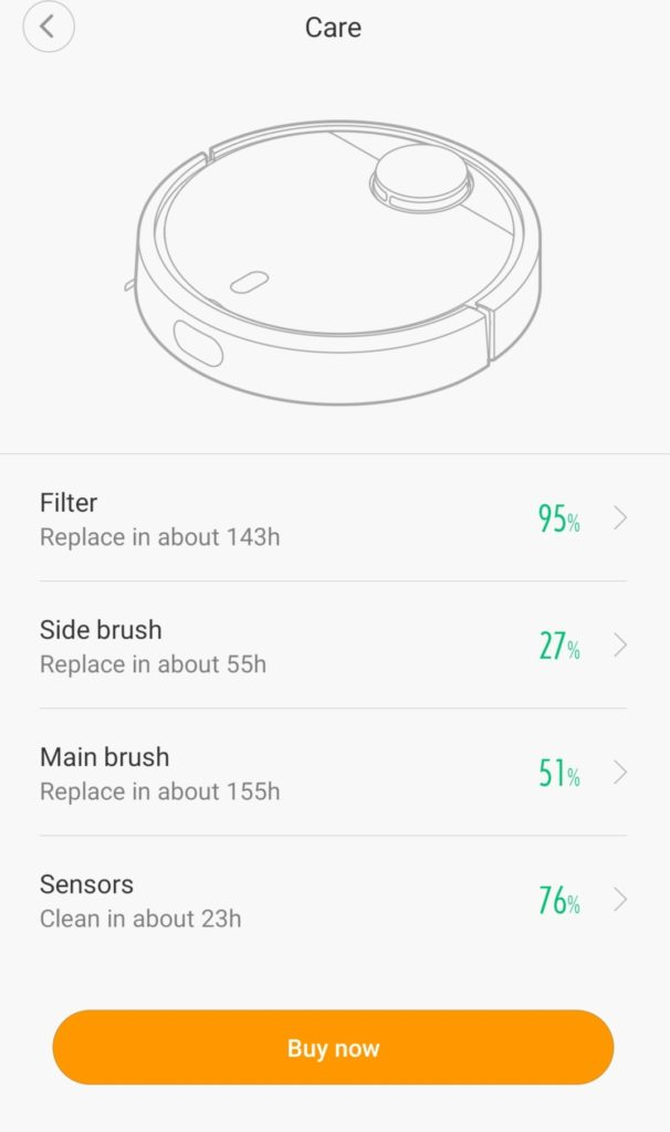 Xiaomi Mi Robot Spare Part replacement