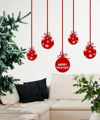 Χριστουγεννιάτικη διακόσμηση σπιτιού με αυτοκόλλητα για τοίχο και τζάμια