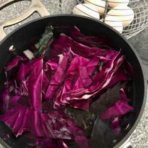 Πως να βάψετε πασχαλινά αυγά με κόκκινο λάχανο